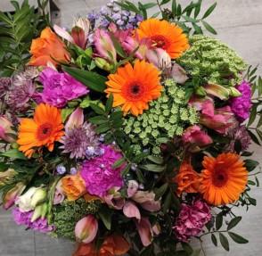 Bouquet de saison teintes multicolores